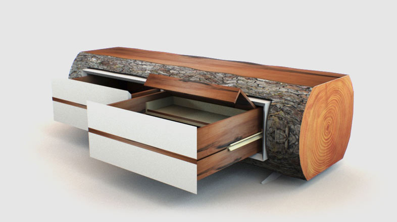 Sideboard executed as a thesis work using PYTHA