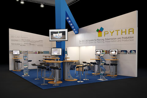 One of our exhibition booths, of course designed using PYTHA