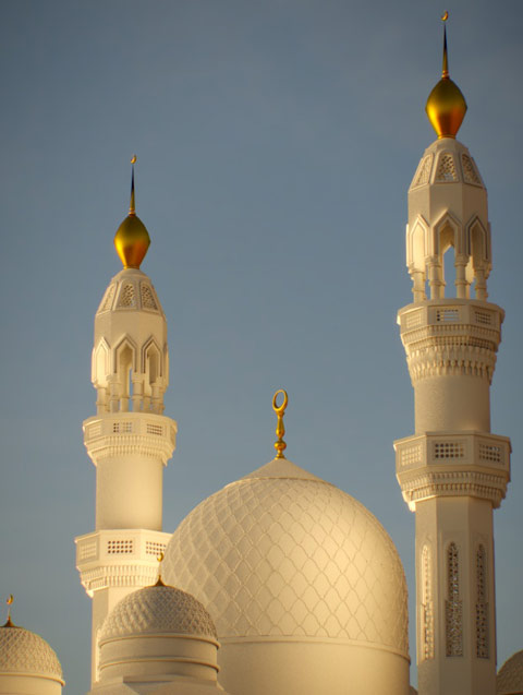 A mosque modelled and rendered with PYTHA