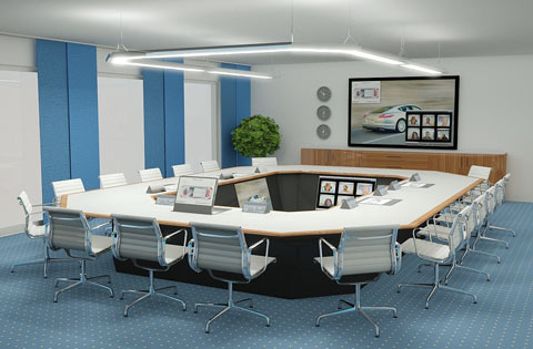 Conference room - drawn with PYTHA