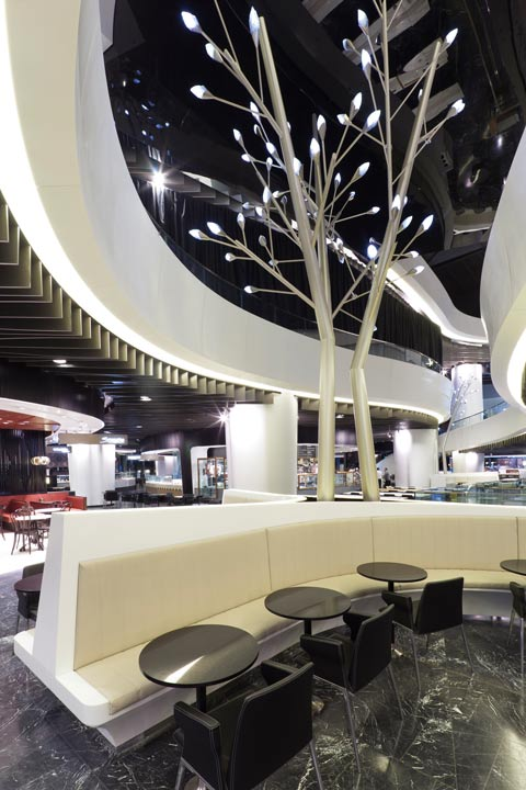 Sitting area in the Westfield Mall, Sydney, that was produced with PYTHA